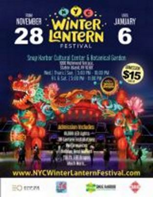Chinese winter lantern, staten island Christmas event