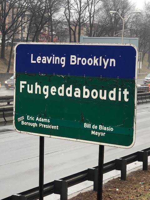 Leaving Brooklyn Sign